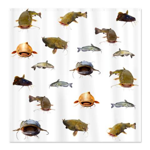 big_flathead_catfish_shower_curtain