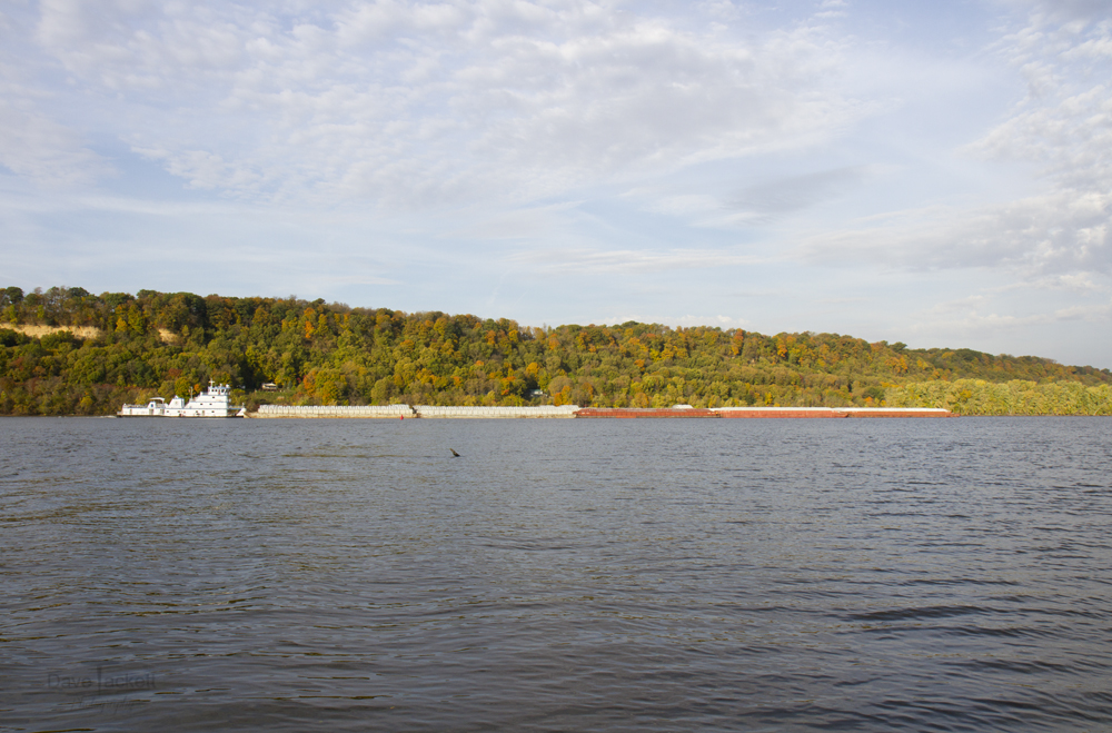 scenic bluff and barge