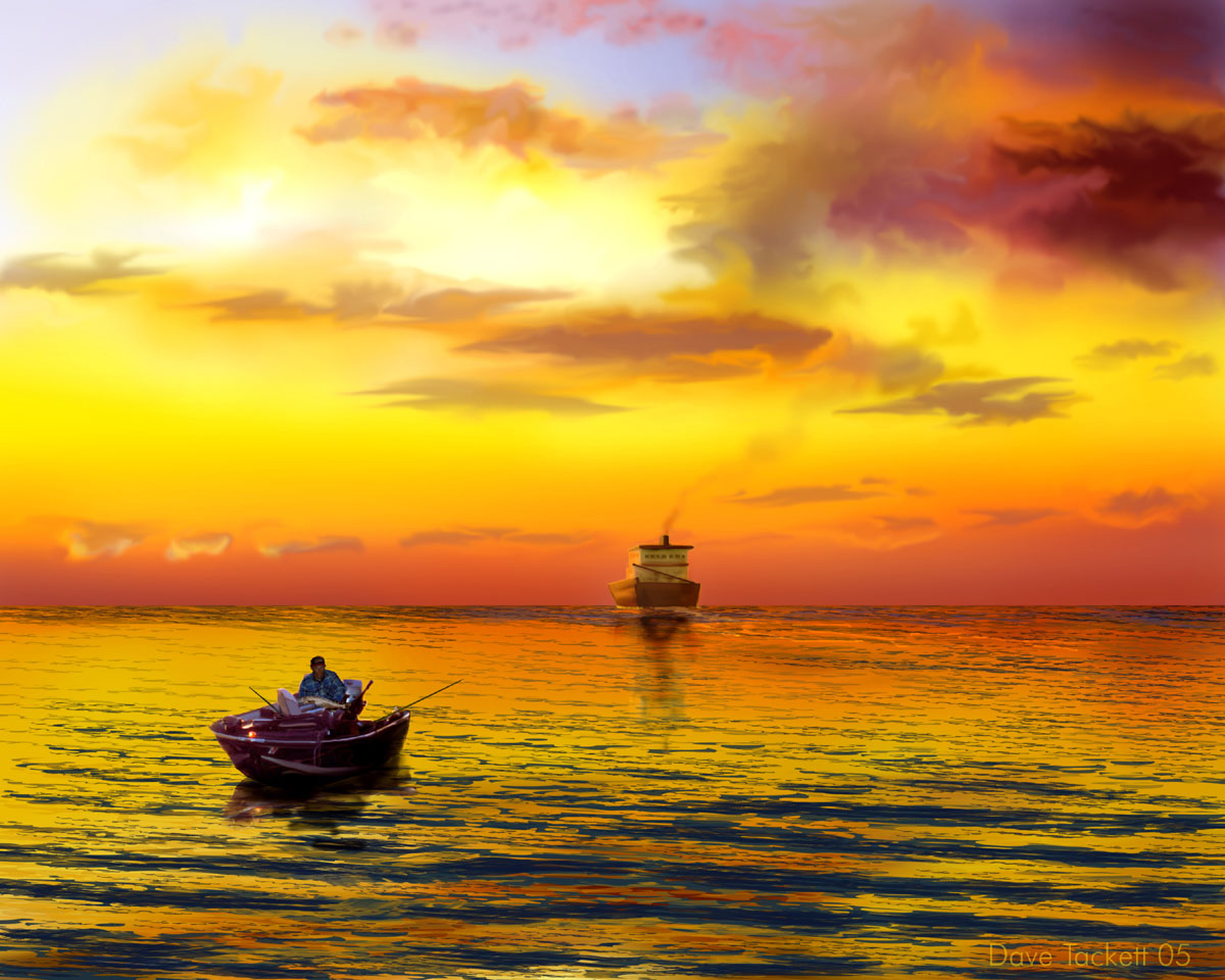 fishing ship widescreen