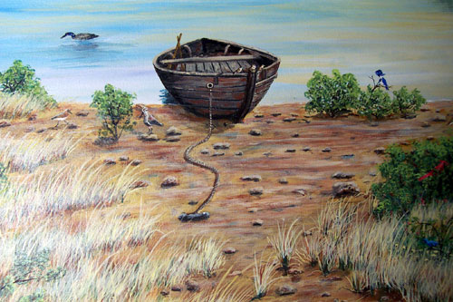 Old Boat Lake painting