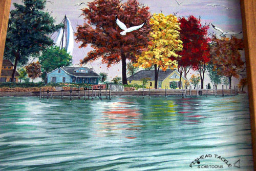 Lake Erie Cottages painting