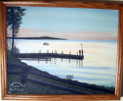 Lake Erie Dock painting