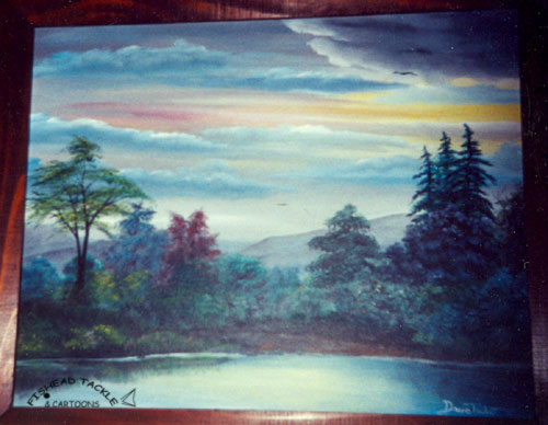 Colorful lake painting