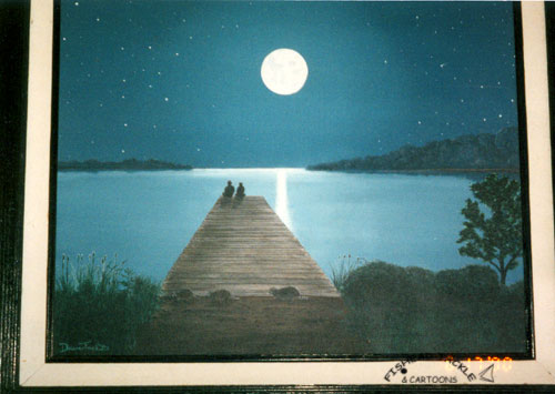 Romantic Dock painting