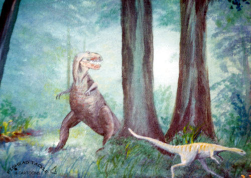 Dinosoars painting