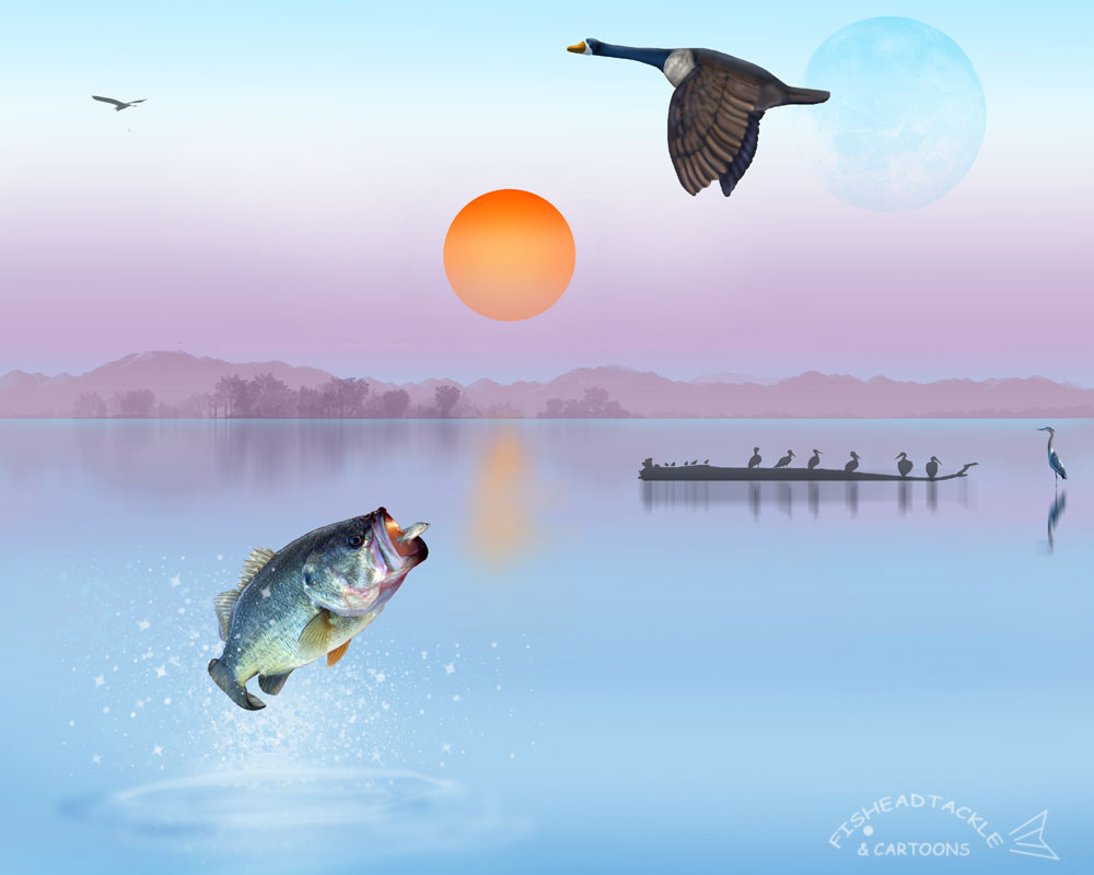 fishing art wallpapers